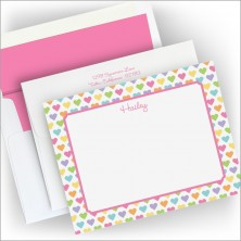 Candy Hearts Correspondence Cards