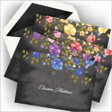 Chalkboard Floral Note Collection
