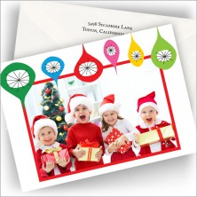 Cheerful Ornaments Photo Cards