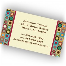 Chocolate Circulo Collection Calling Cards