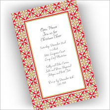 Christmas Floral Invitations - Vertical
