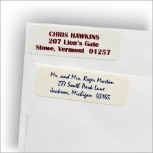 Classic White Address Labels - Style 1 & 3