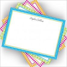 Colorful Pattern Bordered Card Assortment