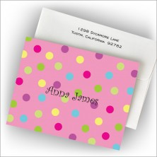 Cotton Candy Dot Fold Note