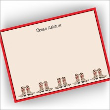 Cowboy Boots Correspondence Cards