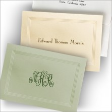 Earthtone Triple Embossed Border Notes