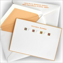Embossed Squares Correspondence Cards