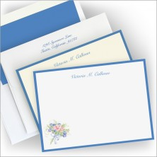 Floral Bouquet Correspondence Cards