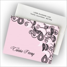 Freeform Pink Fold Notes