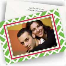 Green Chipendale Photo Cards - Horizontal