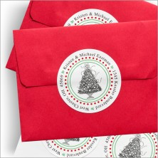 Holiday Address Seals