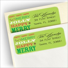 Holiday Speak Return Address Labe