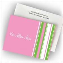 Hot Pink Barcode Fold Note