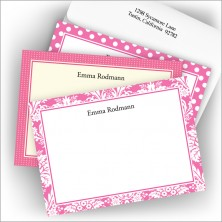 Hot Pink Textile Card Assortment