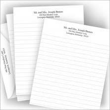 Lined Stationery and Envelopes