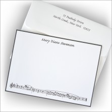 Music Lovers Hand Bordered Correspondence Cards