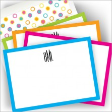 Neon Correspondence Card Set - with Monogram
