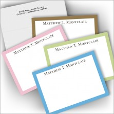 Pastel Border Correspondence Cards