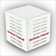 Personalized Self Stick Memo Cubes - Style 13