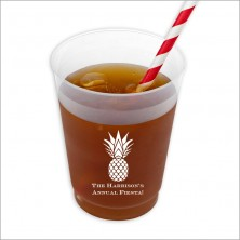DYO 16 oz. Frosted Tumbler - with Design - Pineapple