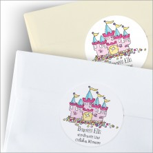 Pretty Princess Round Stickers