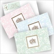 Pretty Vines Note and Label Set - Monogram Note