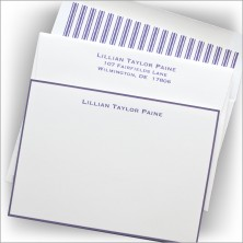 Purple Hand Bordered Correspondence Cards