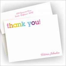 Rainbow Thank You Correspondence Cards