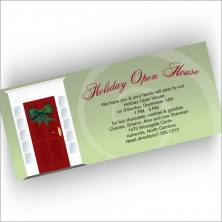 Red Door Holiday Open House Invitations