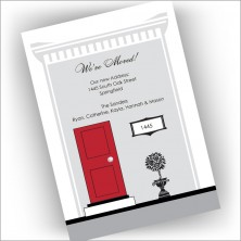 Red Door We've Moved Cards