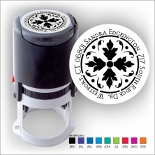Round Stamper w/Black Ink & 1 Color Refill - Format 10