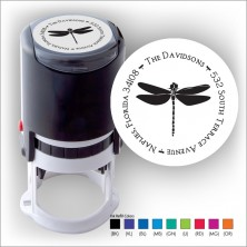 Round Stamper w/Black Ink & 1 Color Refill - Format 11