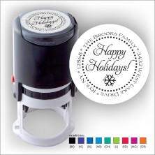 Round Stamper w/Black Ink & 1 Color Refill - Format 19