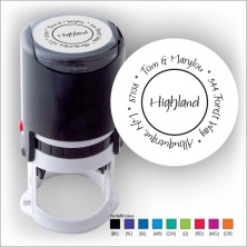 Round Stamper w/Black Ink & 1 Color Refill - Format 20