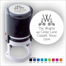 Round Stamper w/Black Ink & 1 Color Refill - Format 21