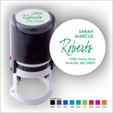 Round Stamper w/Black Ink & 1 Color Refill - Format 27