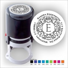 Round Stamper w/Black Ink & 1 Color Refill - Format 9