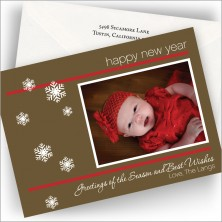 Snowflake New Year Photo Cards