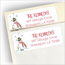 Snowman Cheer Return Address Label