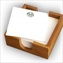 Square Memos in Holder - with Monogram
