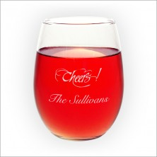 Stemless Wine Glasses - with Design