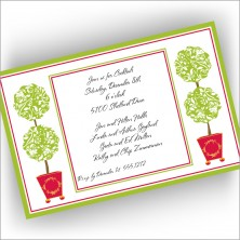 Two Topiaries Invitations