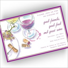 Wine Placesetting Invitations