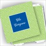 Designer Coasters and Holder - Green Key