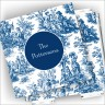 Designer Coasters and Holder - Toile